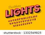 broadway lights  retro style... | Shutterstock .eps vector #1332569825