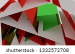 3d illustration of red and... | Shutterstock . vector #1332572708