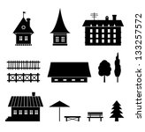 Set Of Different Houses. Icons...
