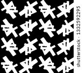 simple black and white vector... | Shutterstock .eps vector #1332592295