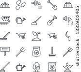 thin line icon set   job vector ...   Shutterstock .eps vector #1332602405