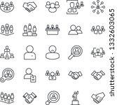 thin line icon set   handshake...   Shutterstock .eps vector #1332603065