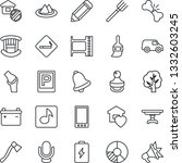 thin line icon set   parking... | Shutterstock .eps vector #1332603245