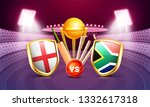 england vs south africa cricket ... | Shutterstock .eps vector #1332617318