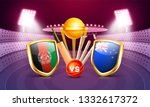 cricket tournament participant... | Shutterstock .eps vector #1332617372