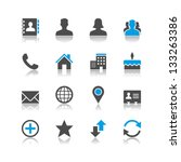 contact icons reflection theme | Shutterstock .eps vector #133263386