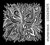 ornament doodle vector abstract ... | Shutterstock .eps vector #1332635675