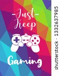 game controller poster with... | Shutterstock .eps vector #1332637985
