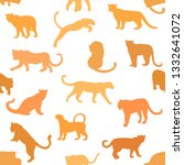 seamless pattern of hand drawn... | Shutterstock .eps vector #1332641072