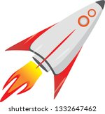 rocket icon for background and... | Shutterstock .eps vector #1332647462