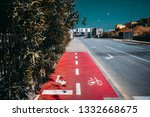 an urban view with a shallow... | Shutterstock . vector #1332668675