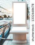 a blank mockup of a digital... | Shutterstock . vector #1332668678