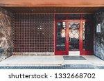 a neat entrance of an ordinary... | Shutterstock . vector #1332668702