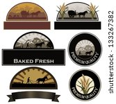 set of bakery labels  farm... | Shutterstock .eps vector #133267382