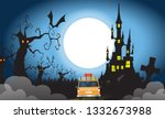 happy halloween day concept... | Shutterstock . vector #1332673988