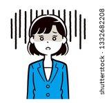 women who are shocked | Shutterstock .eps vector #1332682208