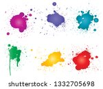 vector collection of artistic... | Shutterstock .eps vector #1332705698