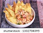 popular thai recipe pad thai...   Shutterstock . vector #1332708395