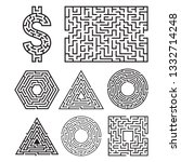 labyrinth maze symbol shape... | Shutterstock .eps vector #1332714248