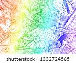 hand drawn doodle backdrop... | Shutterstock .eps vector #1332724565