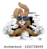 easter bunny rabbit cartoon... | Shutterstock .eps vector #1332728345