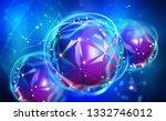 digital mind. work on the... | Shutterstock . vector #1332746012