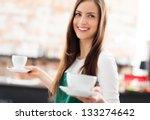 waitress serving coffee | Shutterstock . vector #133274642