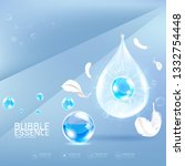 bubble essence collagen and... | Shutterstock .eps vector #1332754448