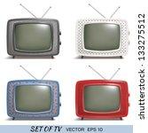 set of a retro tv vector... | Shutterstock .eps vector #133275512