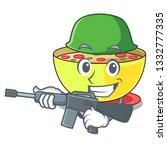 army corn chowder in a cartoon...