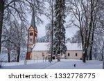 krimulda evangelical lutheran...   Shutterstock . vector #1332778775