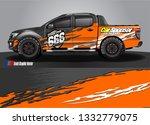 truck wrap decal design vector. ... | Shutterstock .eps vector #1332779075