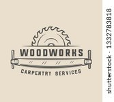 vintage carpentry  woodwork and ...   Shutterstock . vector #1332783818