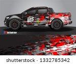 truck wrap design. simple lines ... | Shutterstock .eps vector #1332785342