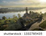 top view of the fog on the... | Shutterstock . vector #1332785435