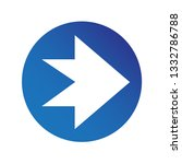 simple arrow sign icon | Shutterstock .eps vector #1332786788