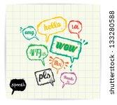 vintage colorful bubbles .... | Shutterstock .eps vector #133280588