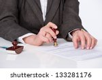businessman notarize testament... | Shutterstock . vector #133281176