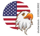 eagle vector clipart | Shutterstock .eps vector #1332813002