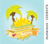 beautiful summer illustrations ....   Shutterstock .eps vector #133281476