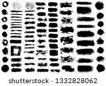 brush strokes. vector... | Shutterstock .eps vector #1332828062