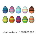 a set of very colorful easter... | Shutterstock .eps vector #1332835232