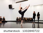 female ballet student at... | Shutterstock . vector #1332840722