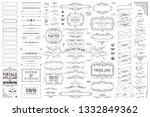 mega set or collection of... | Shutterstock .eps vector #1332849362