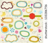 scribbled notebook page  labels ... | Shutterstock .eps vector #133286756
