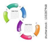 infographics design template.... | Shutterstock .eps vector #133287968