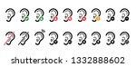 symbol for deafness language... | Shutterstock .eps vector #1332888602