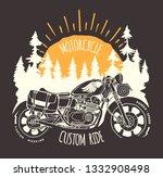 Custom Bike Travel Hand Drawn...