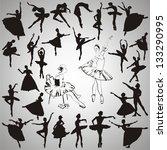 Vector Set Of Ballet Dancers...