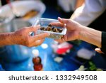 the hunger problem of the poor  ... | Shutterstock . vector #1332949508